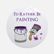 Rather Be Painting Ornament (Round)