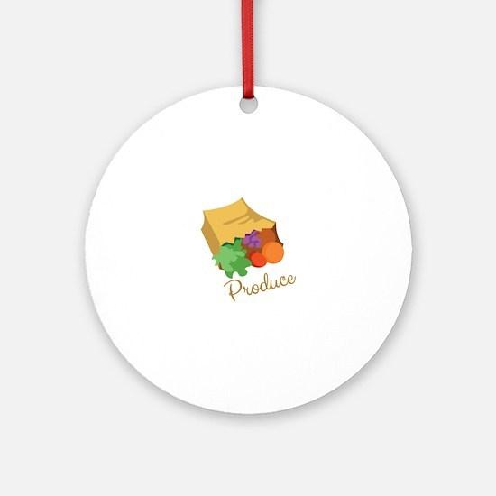 Produce Ornament (Round)