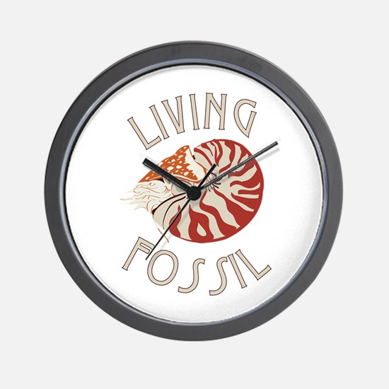 Living Fossil Wall Clock