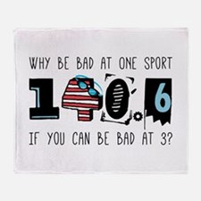 Why Be Bad Throw Blanket