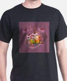 Funny easter bunny with easter eggs T-Shirt