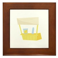 Lemonade Stand Framed Tile