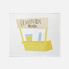 Lemonade Boss Throw Blanket