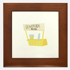 Lemonade Boss Framed Tile