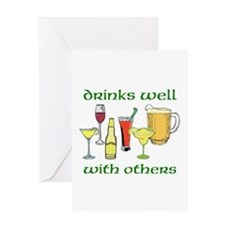 Drinks Well Greeting Cards
