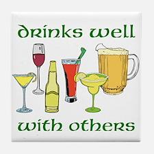 Drinks Well Tile Coaster