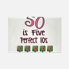 Unique 50th birthday Rectangle Magnet (100 pack)