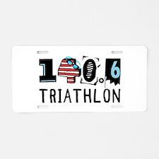 140.6 Triathlon Aluminum License Plate