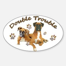 Boxer Double Trouble Bumper Stickers