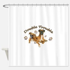 Boxer Double Trouble Shower Curtain