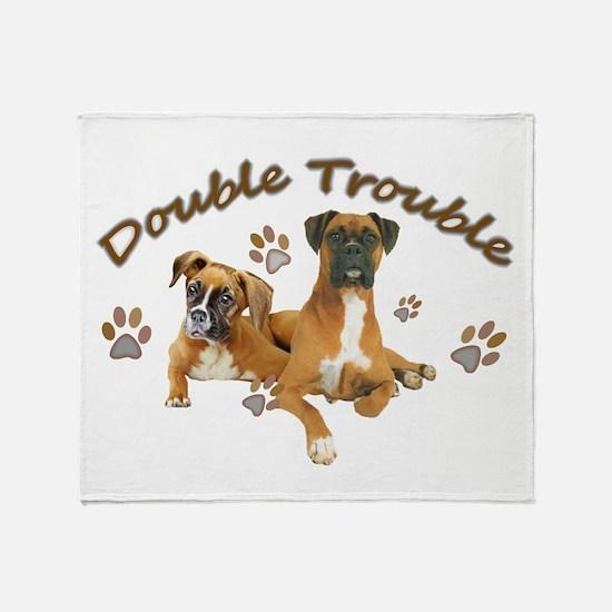 Boxer Double Trouble Throw Blanket