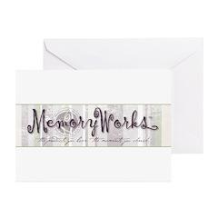 MW Striped Logo Greeting Cards (Pk of 20)