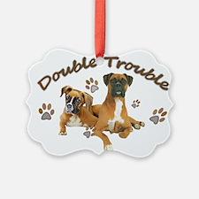 Boxer Double Trouble Ornament