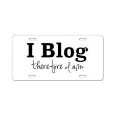 I Blog Aluminum License Plate