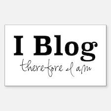 I Blog Decal