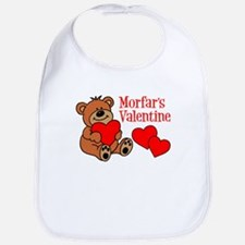 Morfar's Valentine Cartoon Bear Bib