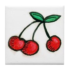 Cute Little Cherries Tile Coaster