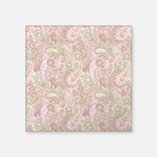 """Baby Pink Watercolor Paisle Square Sticker 3"""" x 3"""""""