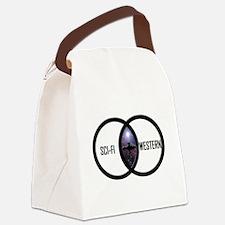 SCI-FI WESTERN MERGE-2 Canvas Lunch Bag