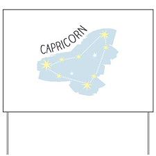 Capricorn Stars Yard Sign