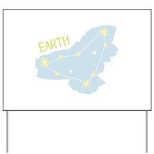 Earth Capricorn Stars Yard Sign