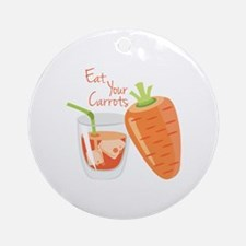 Eat Carrots Ornament (Round)