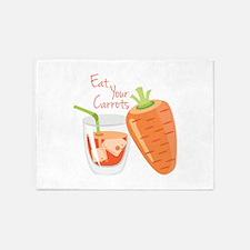 Eat Carrots 5'x7'Area Rug