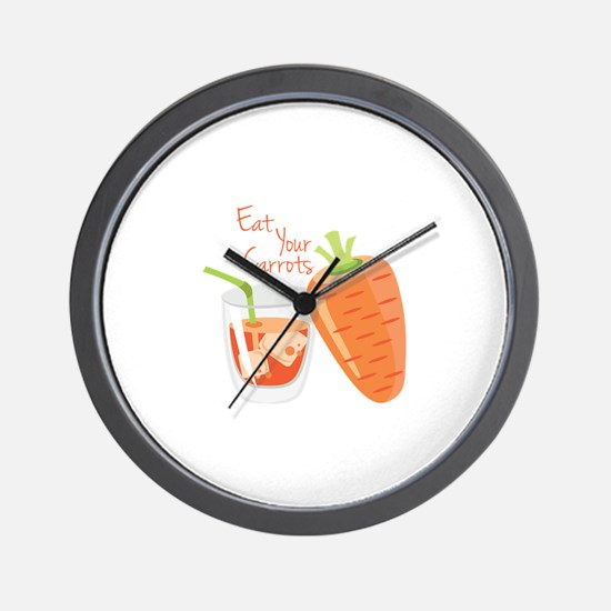 Eat Carrots Wall Clock