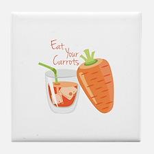 Eat Carrots Tile Coaster