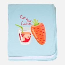 Eat Carrots baby blanket