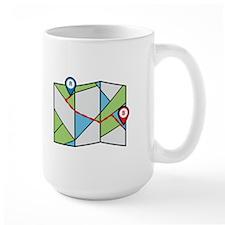 Cubist Road Map Mugs