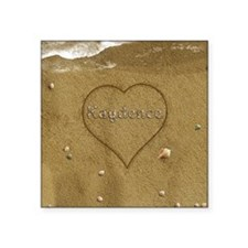 "Kaydence Beach Love Square Sticker 3"" x 3"""