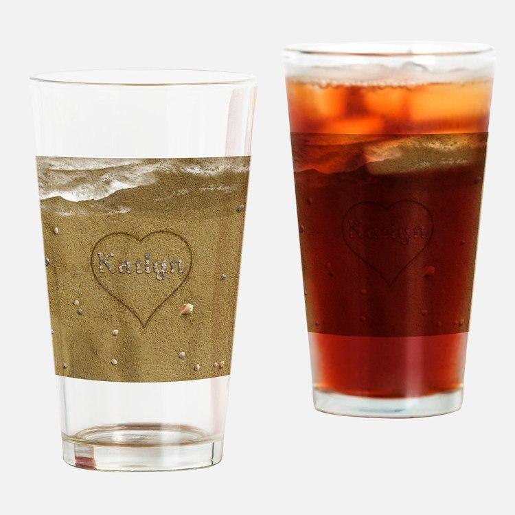 Katlyn Beach Love Drinking Glass