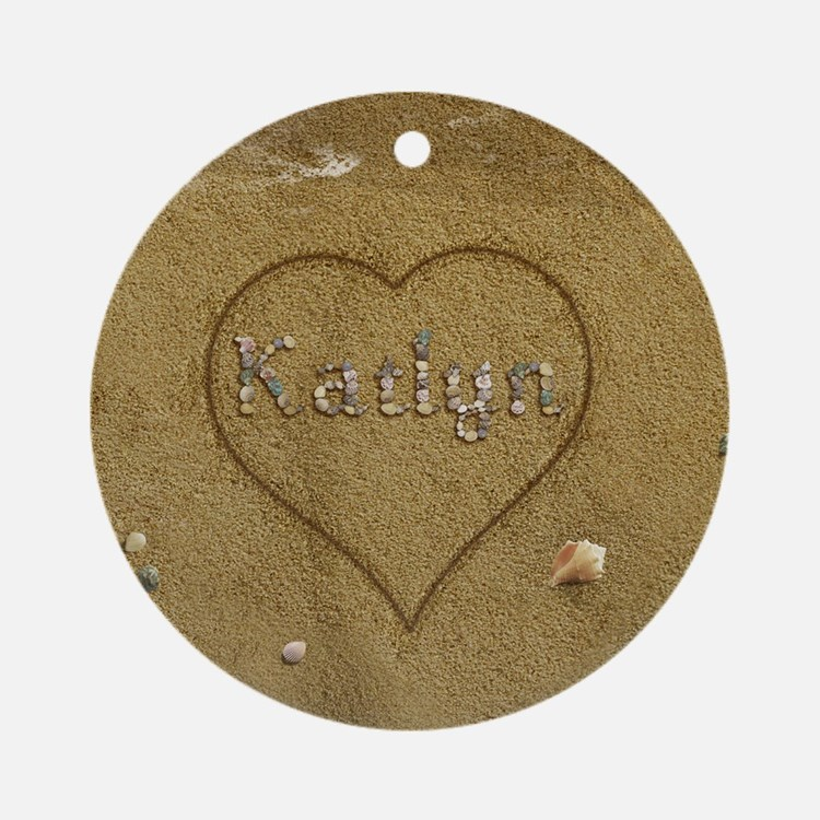 Katlyn Beach Love Ornament (Round)
