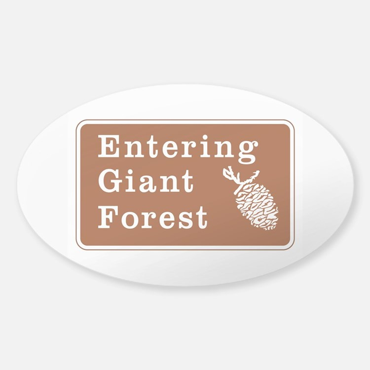 Entering Giant Forest, California Decal