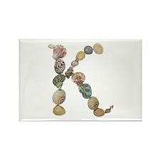 K Seashells Rectangle Magnet