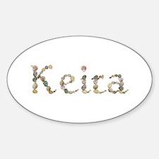 Keira Seashells Oval Decal