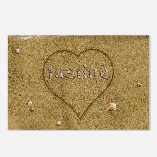 Justine Beach Love Postcards (Package of 8)