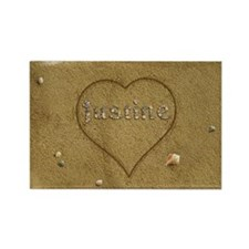 Justine Beach Love Rectangle Magnet