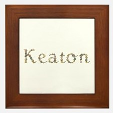 Keaton Seashells Framed Tile