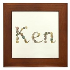 Ken Seashells Framed Tile