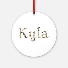 Kyla Seashells Round Ornament