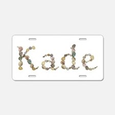 Kade Seashells Aluminum License Plate