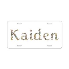 Kaiden Seashells Aluminum License Plate