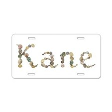 Kane Seashells Aluminum License Plate