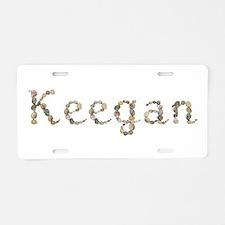 Keegan Seashells Aluminum License Plate