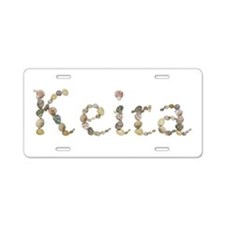 Keira Seashells Aluminum License Plate