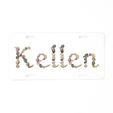 Kellen Seashells Aluminum License Plate