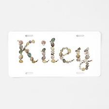 Kiley Seashells Aluminum License Plate