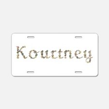 Kourtney Seashells Aluminum License Plate